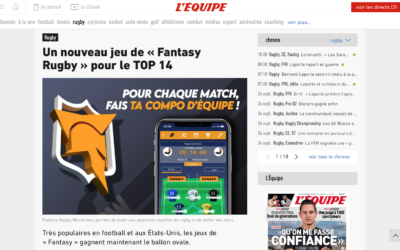 "The French website ""L'équipe"" highlights Fantasy Rugby World"