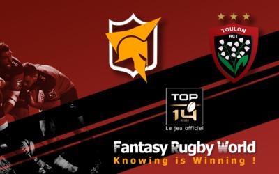 Toulon devient partenaire de Fantasy Rugby World